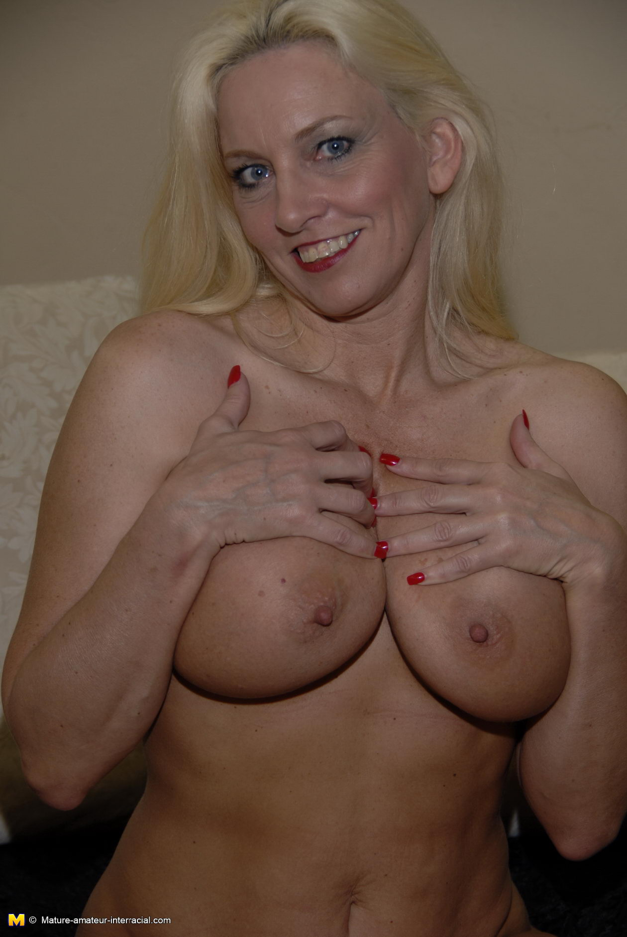 Horny mature loves a black cock
