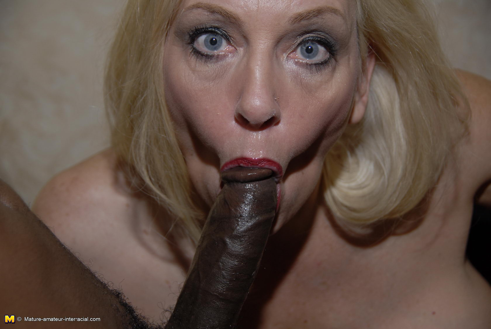 Huge black sucking cock blonde