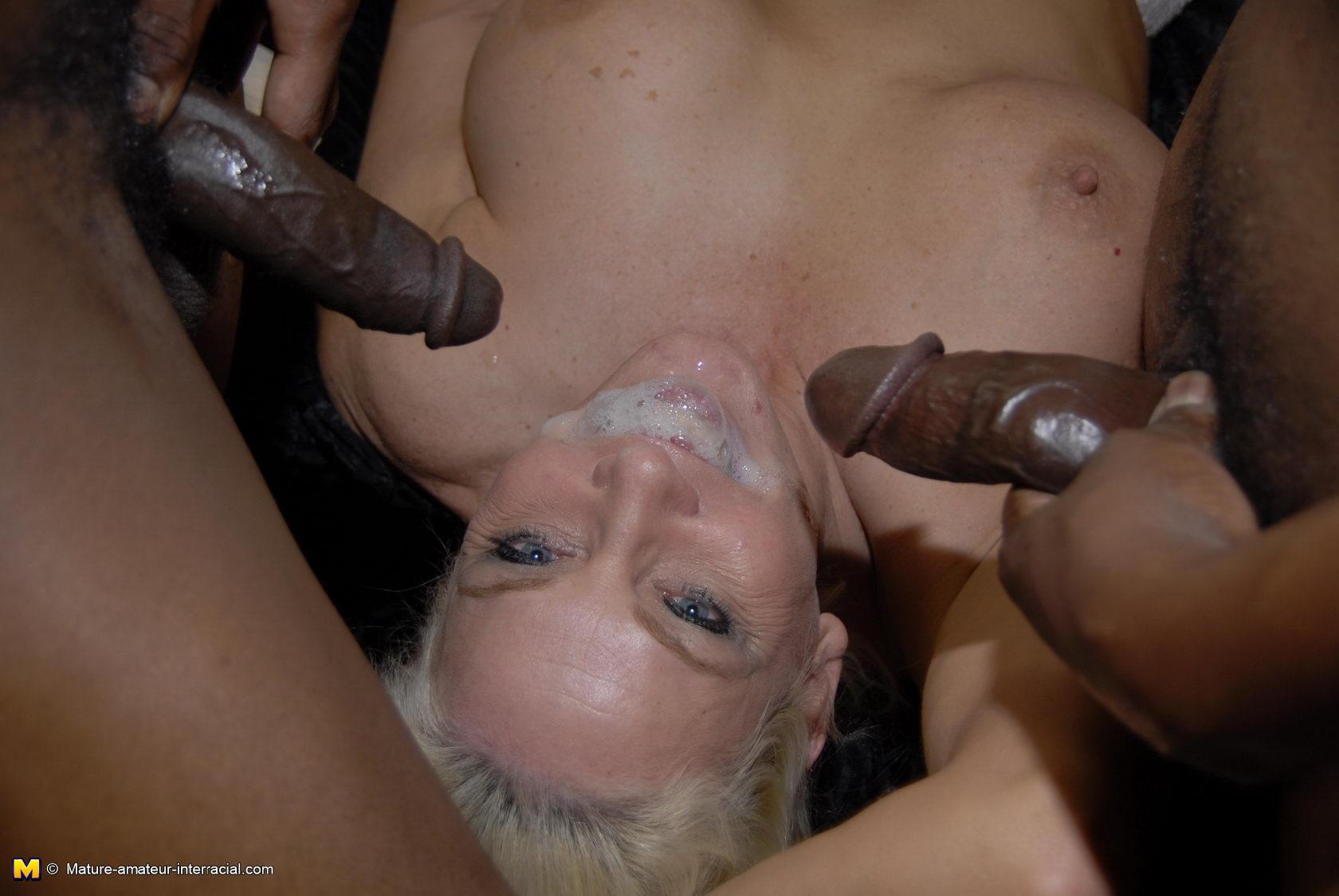interracial mature woman