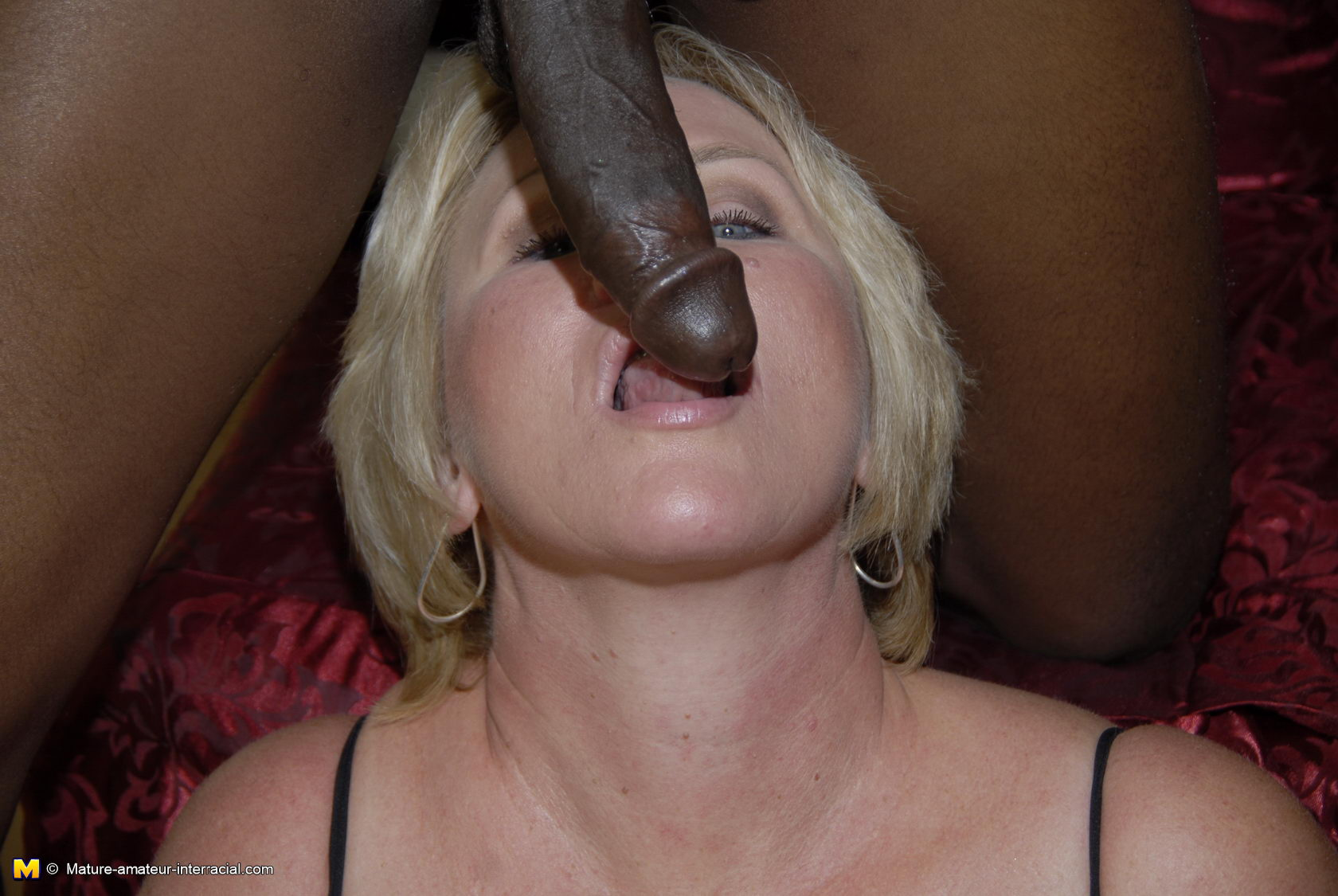 Remarkable, blonde takes black cock sorry