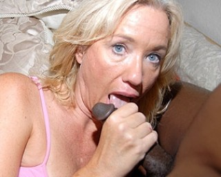 This blonde mature slut just loves black cocks